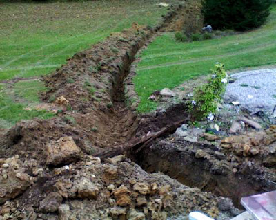 Water line ditch