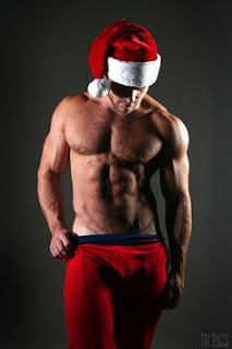 hot men, santa clause, christmas
