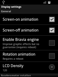 CyanMobile Display Settings