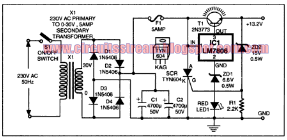 high power car battary eliminator electronic circuits diagram rh streampowers blogspot com Light Bulb Circuit Diagram