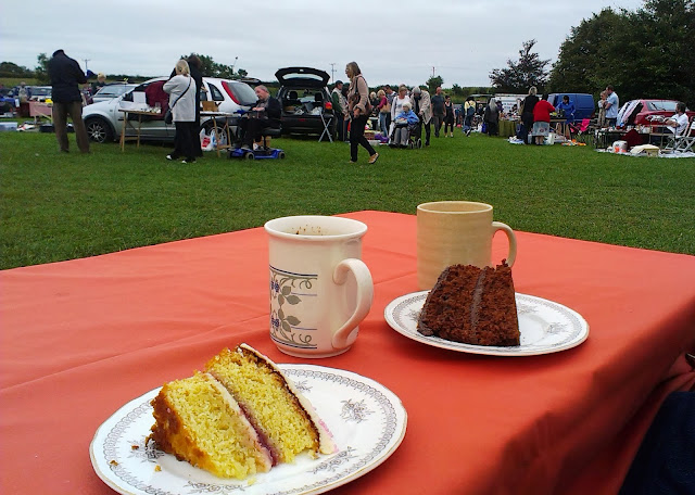 Tea and cake at a car boot sale