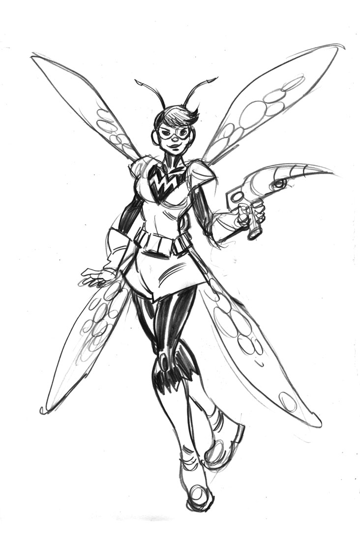 Avengers Wasp Coloring Pages : Wasp avengers coloring pages
