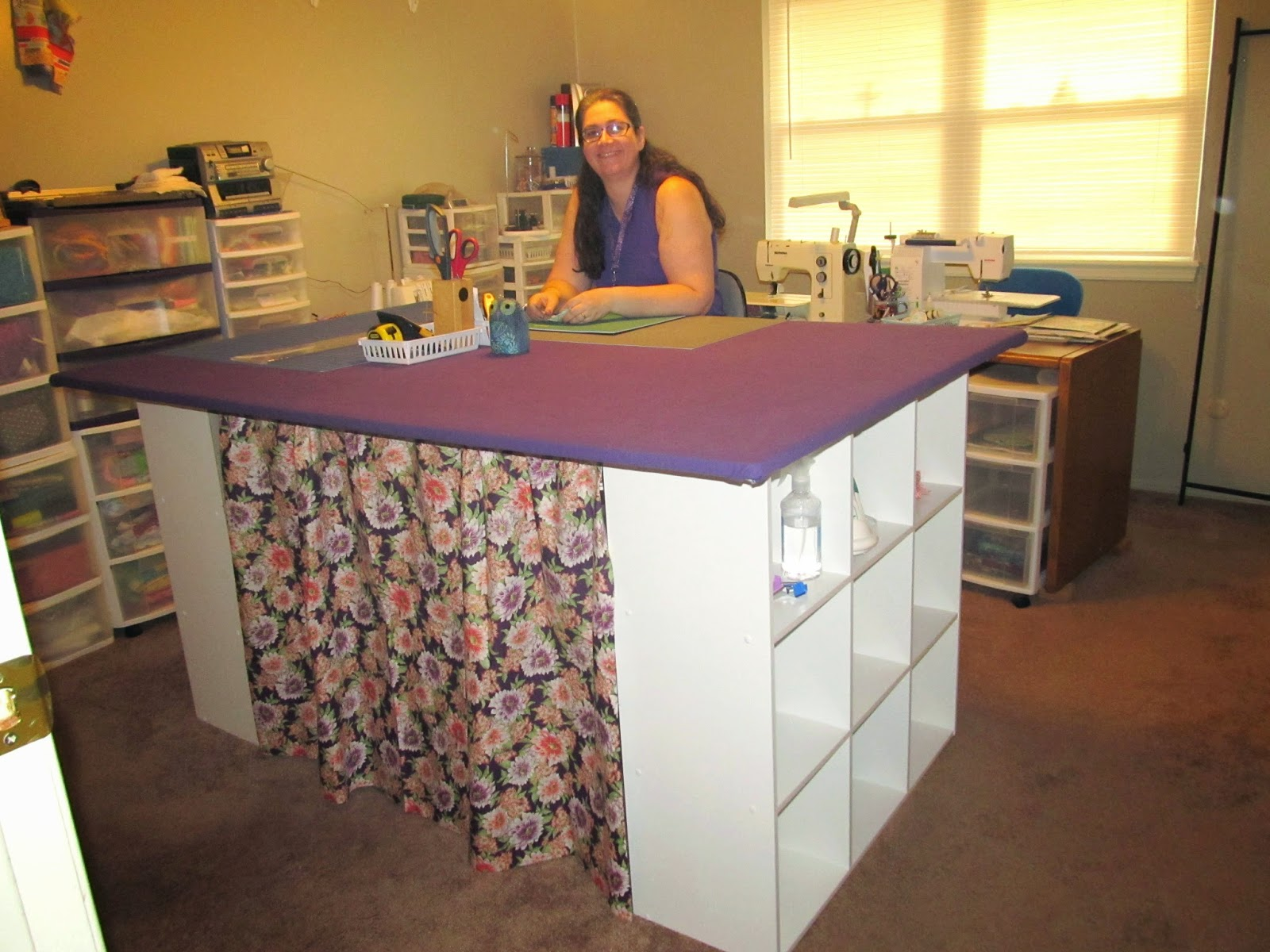 Diy cutting table - Ann S Quilt N Stuff My New 4 X 6 Foot Cutting Table Ironing Table We Built For About 200 Here Is A Step By Step Description Of How We Did It