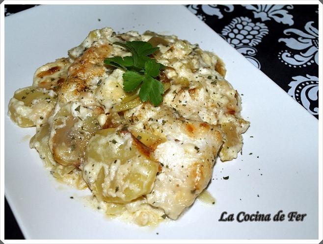 La cocina de fer y amigos lomos de bacalao horneado con nata - Cocinar bacalao congelado ...