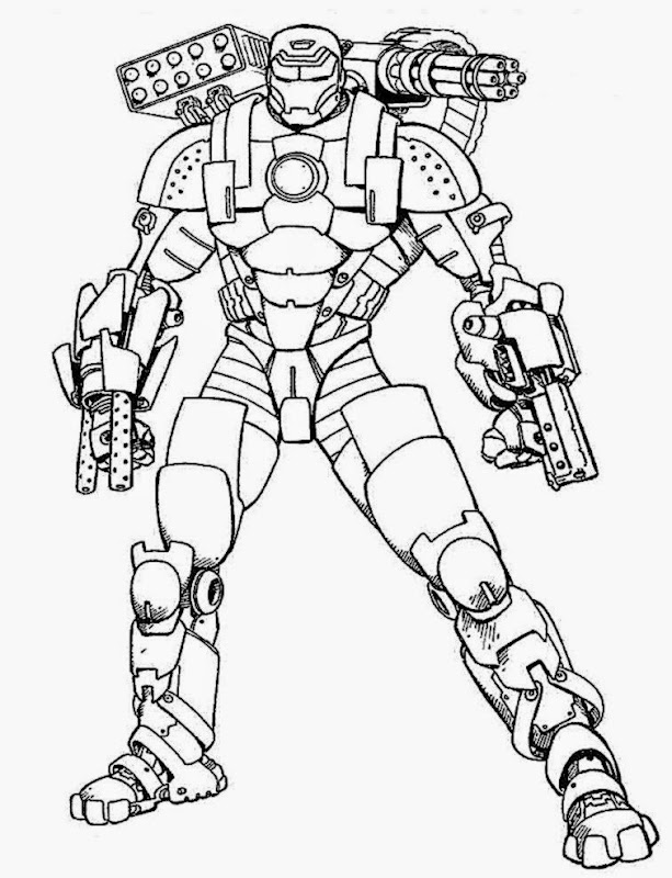 10 Iron Man Coloring Pages Printable And Colors
