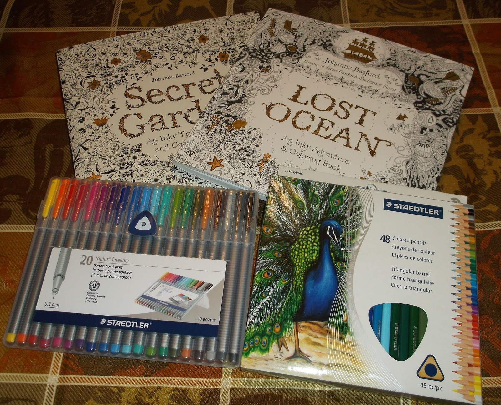 Lost Ocean Secret Garden By Johanna Basford And Staedtler Pens Colored Pencils