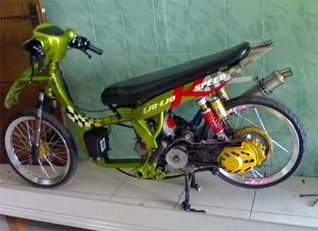 modifikasi mio drag 200cc terbaru