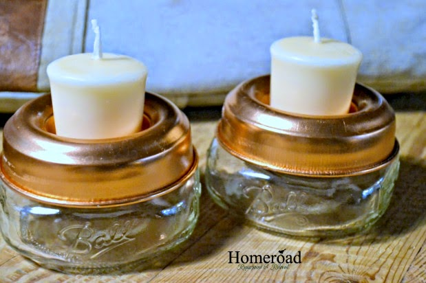 mason jar votive candle holder www.homeroad.net