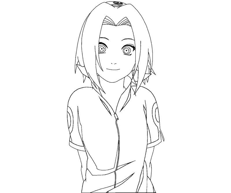 sakura haruno coloring pages - photo#5