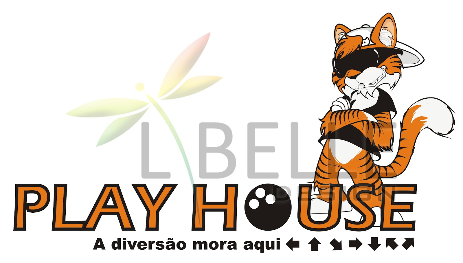 libelle design logotipo e mascote play house