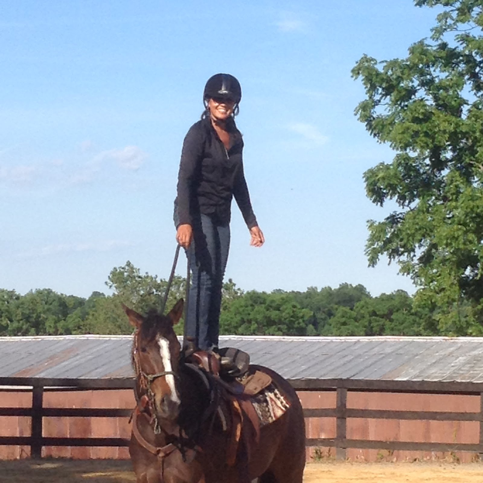 Ms. Jean and her 4 yr old filly, Anna, will be performing at the Thoroughbred Challenge in Kentucky