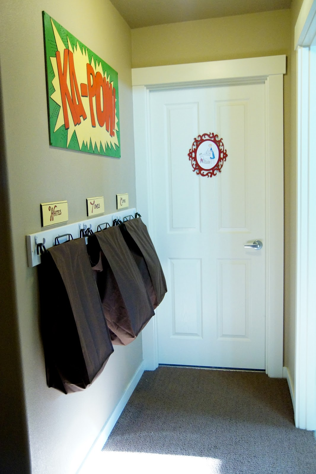 Blooming Laundry Hallway Hamper Wall Of Power