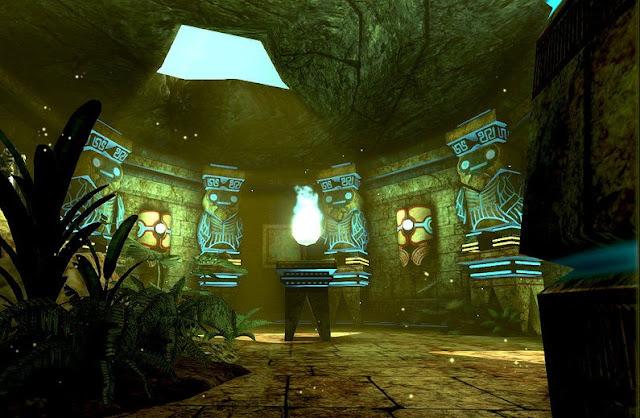 Templo antigo de luz, templo egipcio com eletricidade
