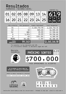 boletin oficial pozo millonario sorteo 619