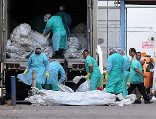 Honduras prison fire: body bags