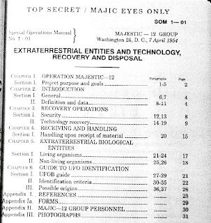 MJ-12 Manual Table of Contents
