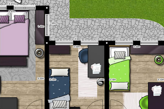 Design and create your own home in 3d using free for Www floorplanner