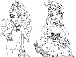 Ever After High Raven Queen Colouring Pages