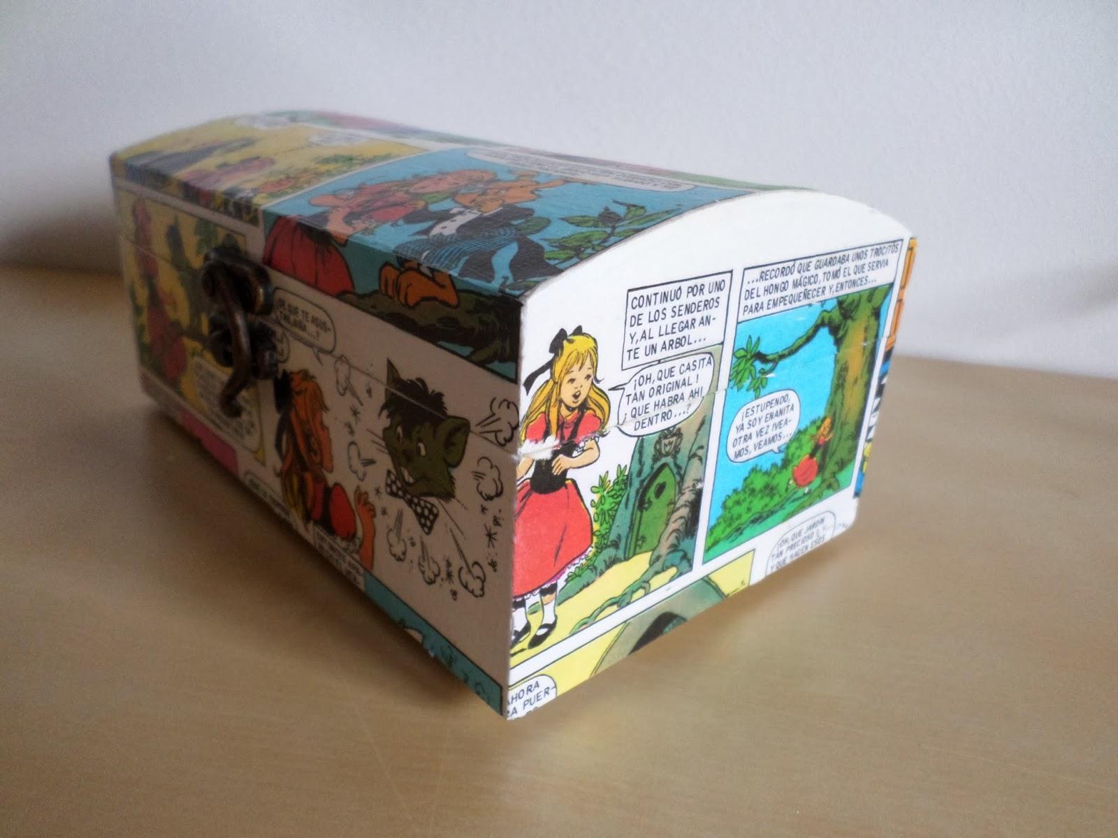 Cajas de madera decoradas caja de madera decorada con for Cajas de madera aki