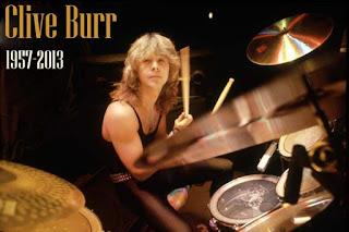 Clive Burr (1957-2013) fue el primer batería oficial de Iron Maiden