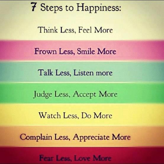 Steps to happiness inspirational quote