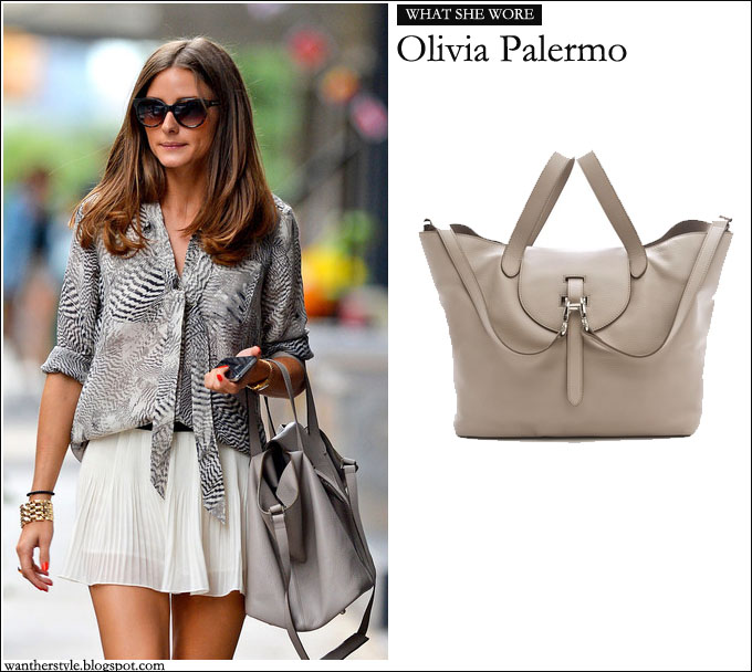 What She Wore Olivia Palermo With Tan One By Meli Melo Thela Bag I Want Her Style What