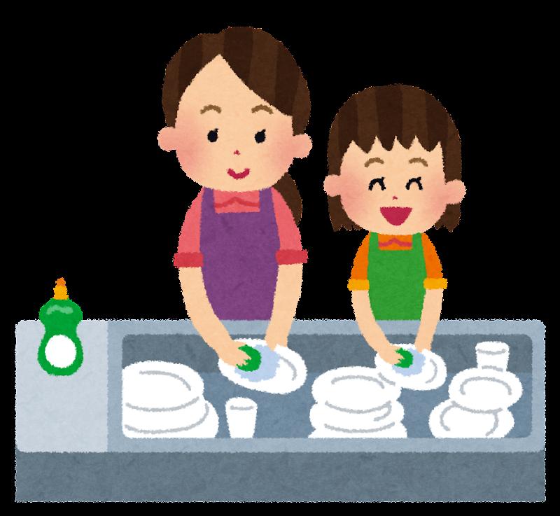 食器洗いをしているお母さんと ... : 英語のアルファベット : 英語