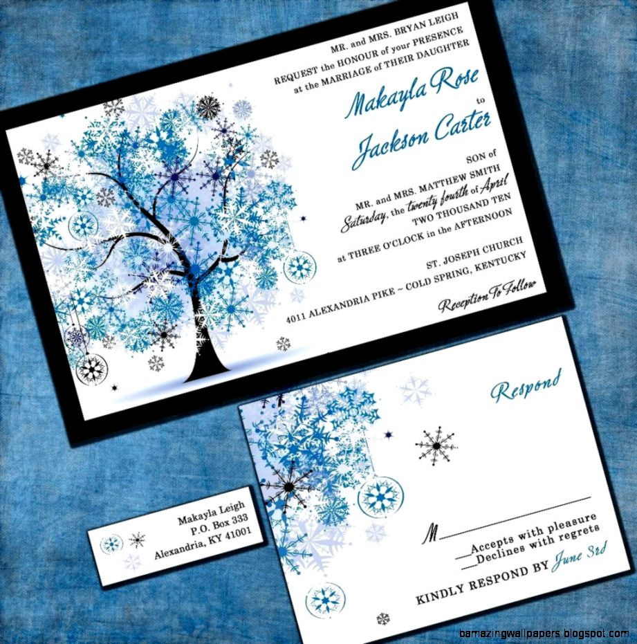Winter Wedding Invitations Wording   Wedding Decor And Design