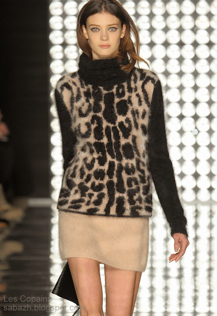вязание из мохера,вязаное платье 2013-2014,knitted dress,Strickkleid,Les Copains