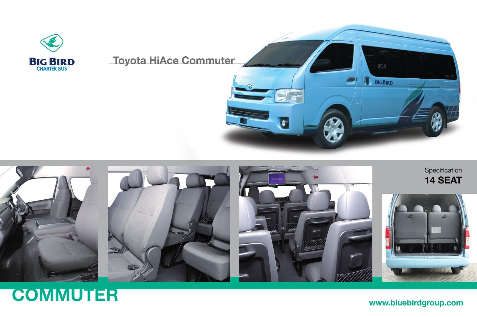 Sewa HI Ace Commuter Blue Bird - Sewa Elf Jakarta | Sewa ...