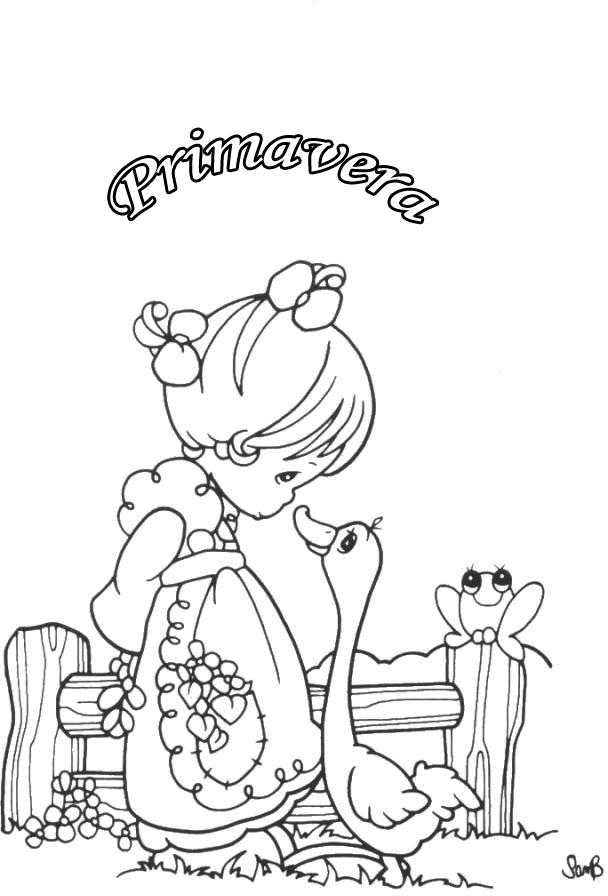 Dibujo De La Primavera Para Colorear. Best Dibujo Infantil De ...