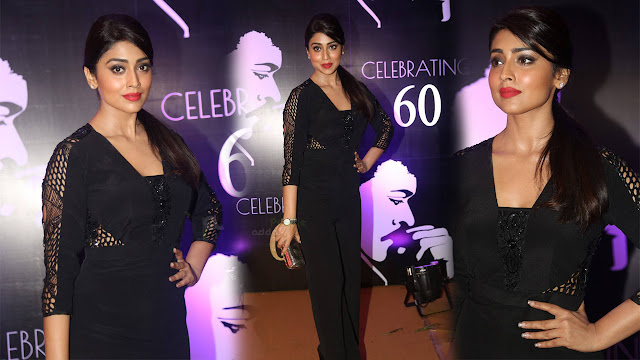 Shriya Saran Latest Photos At Chiranjeevi 60th Birthday Party