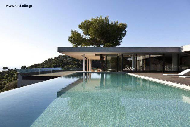 Residencia contemporánea minimalista en Grecias