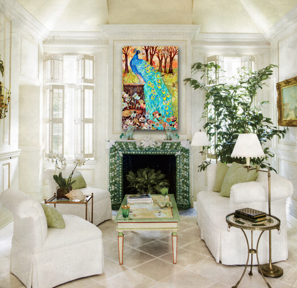 Art Blog For Creative Living Best Art For Decorating A High Mantel Fireplace