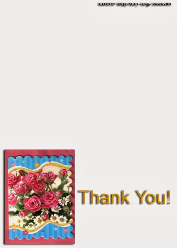 Flower Thank You Card Template