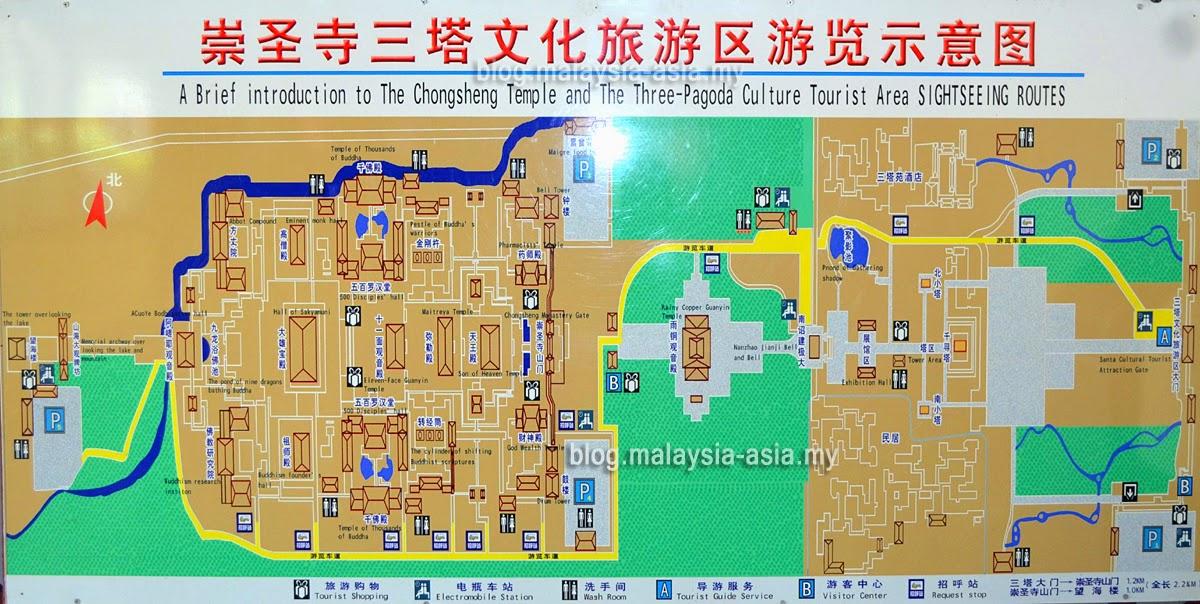 Chongshang Temple Information Map
