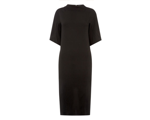mid sleeve midi dress