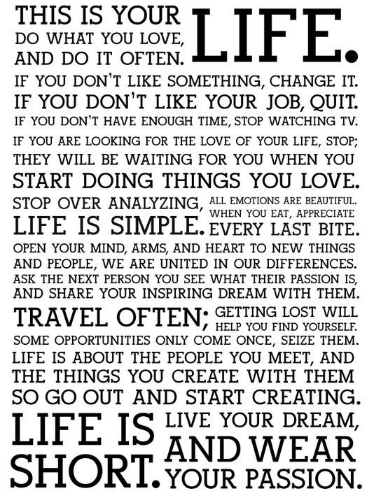 short speech about life