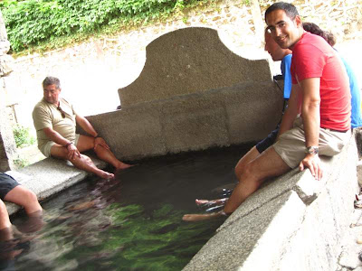 Hot spring in Caldas do Reis