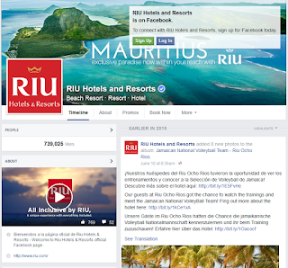 Page FB de RIU