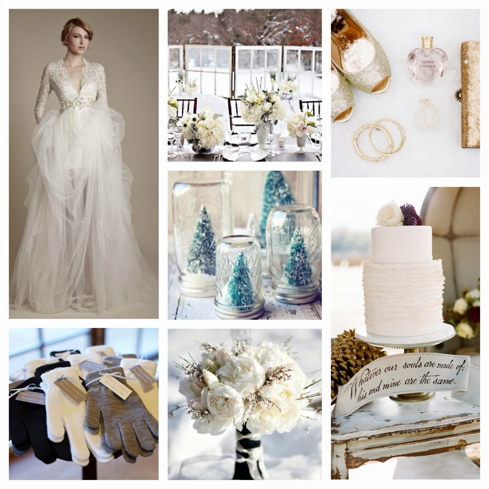 winter theme inspiration board