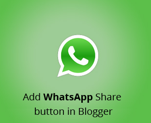 Cara Pasang Tombol Share ke WhatsApp di Blog