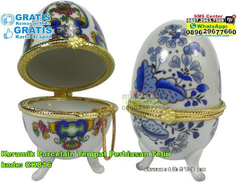 Keramik Porcelain Tempat Perhiasan Telur