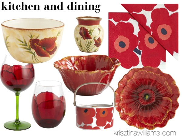 2013 home decor trend home goods in red poppy for Home goods decorative accessories