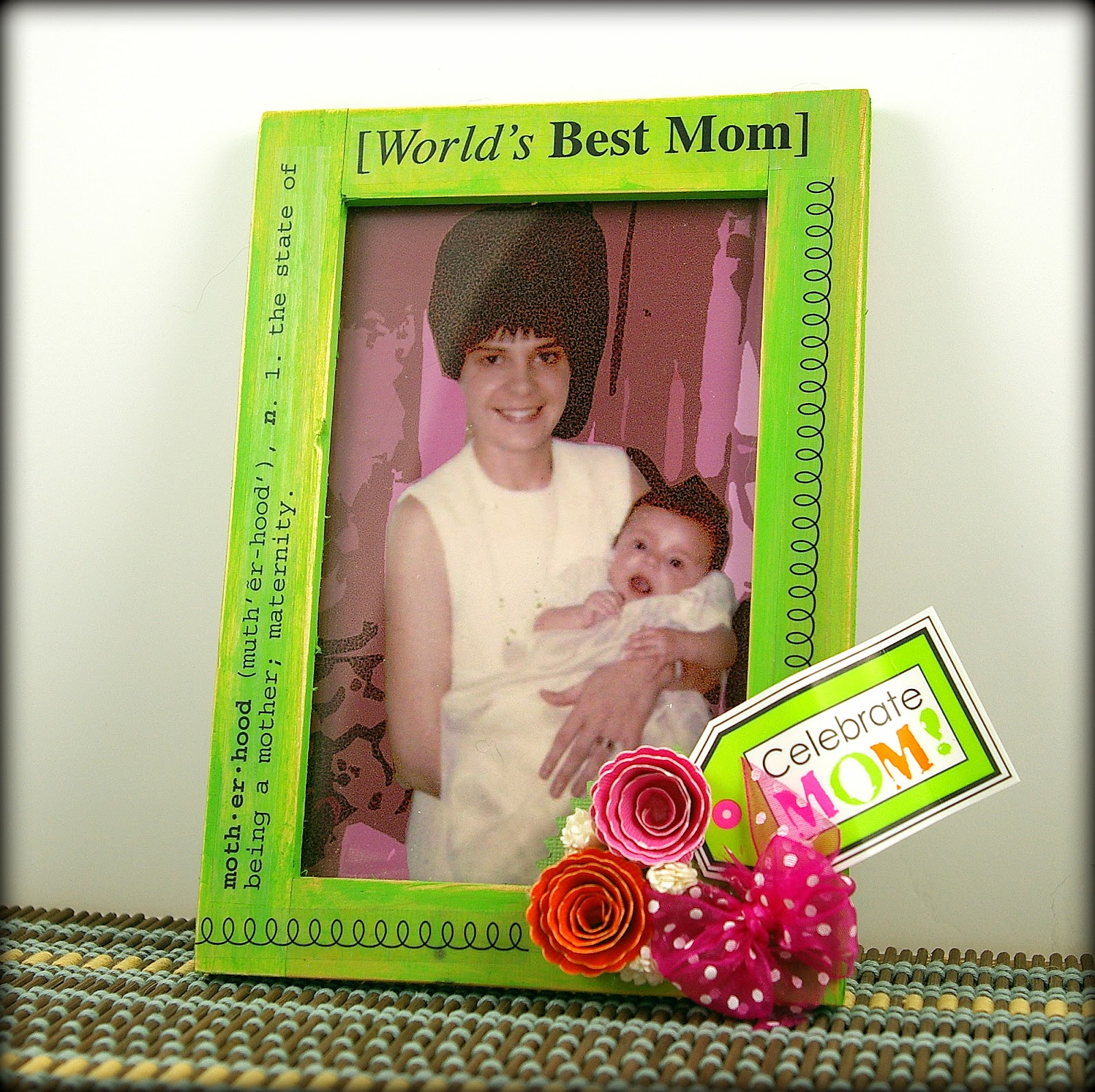SRM Stickers Blog - Mother's Day Frame by Michelle - #altered #mother's day #mother #stickers #frame