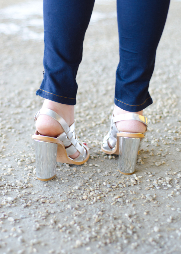 Metallic silver sandals for spring from Lulus.com