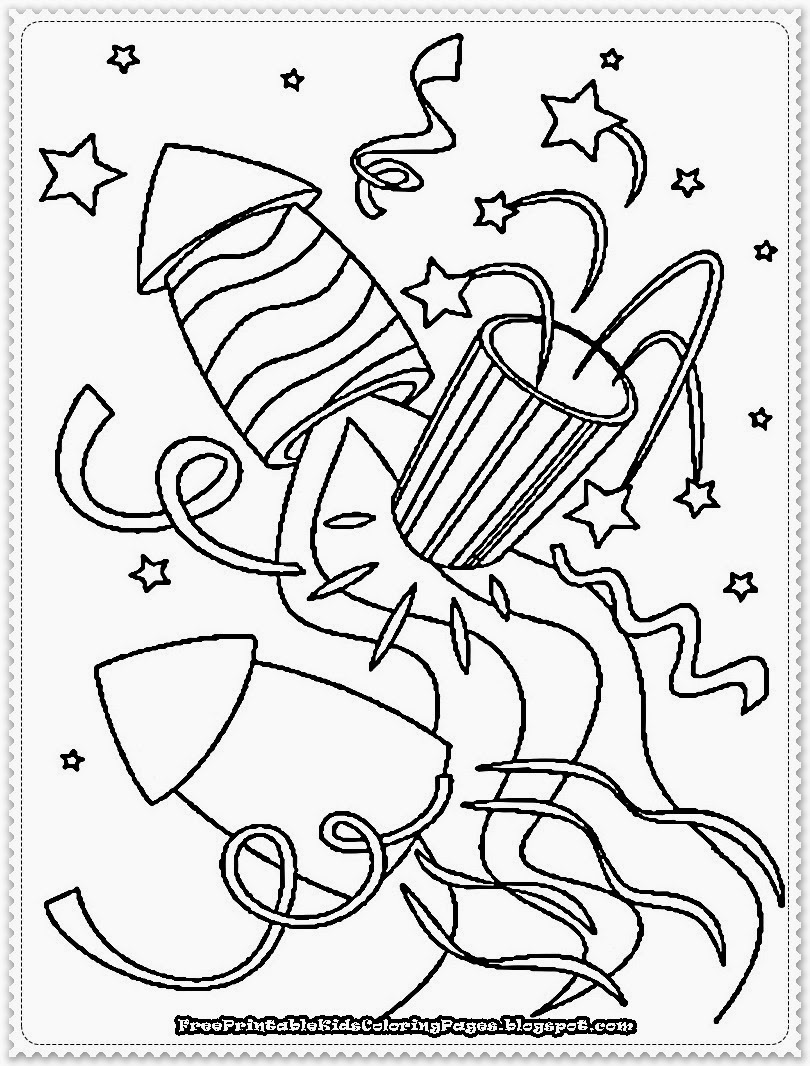 new years eve coloring pages - photo#1