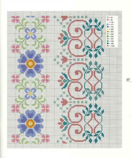 Вышивка маленький орнамент схема