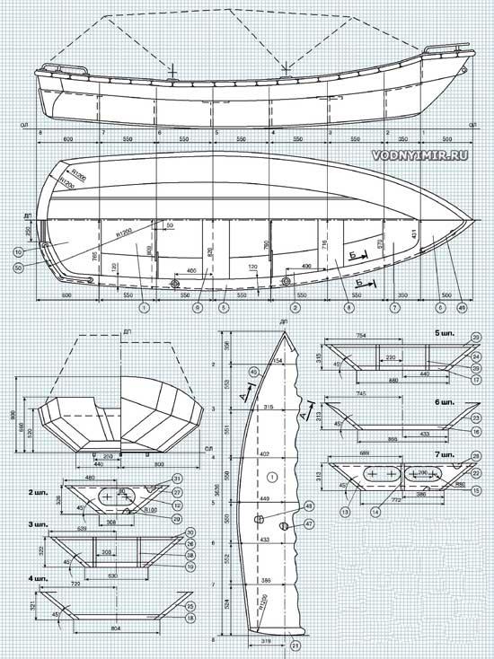 купить чертежи лодок из фанеры