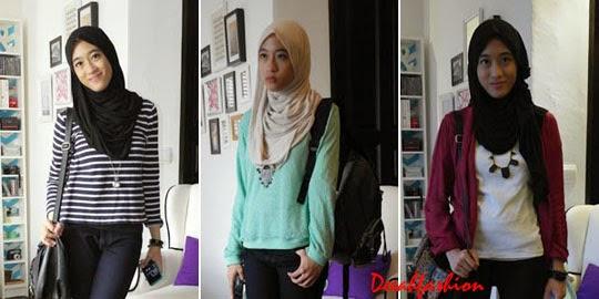 3 Gaya Jilbab Untuk Kuliah CasualLook1
